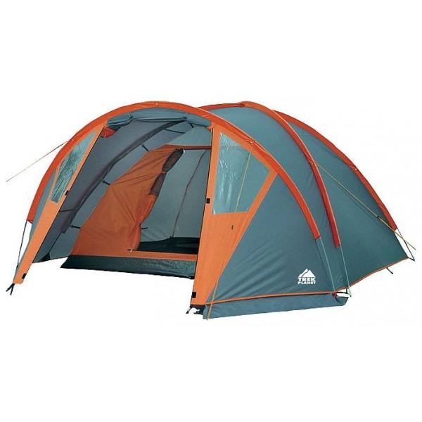 Палатка Trek Planet Hudson 4 трекинговаятрекинговая палатка, 4-местная, внешний каркас, дуги из стеклопластика, один вход / одна комната, невысокая водостойкость, вес: 6.7 кг<br><br>Вес кг: 6.70000000