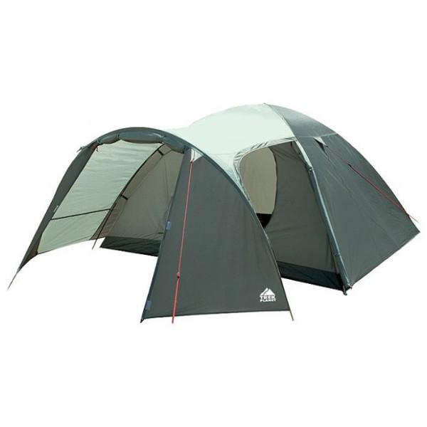 Палатка Trek Planet Boston Air 4 кемпинговаякемпинговая палатка, 4-местная, внутренний каркас, дуги из стеклопластика, 2 входа / одна комната, высокая водостойкость тента, вес: 5.2 кг<br><br>Вес кг: 5.20000000