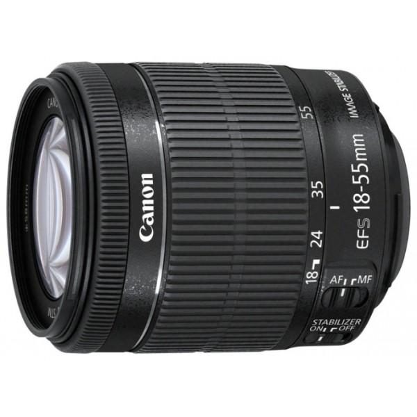 Объектив Canon EF-S 18-55mm f/3.5-5.6 IS STMCanon EF-S 18-55mm f/3.5-5.6 IS STM стандартный Zoom-объектив, крепление Canon EF-M, встроенный стабилизатор изображения, автоматическая фокусировка, минимальное расстояние фокусировки 0.25 м, размеры (DхL): 60.9x61 мм, вес: 210 г<br><br>Вес кг: 0.30000000