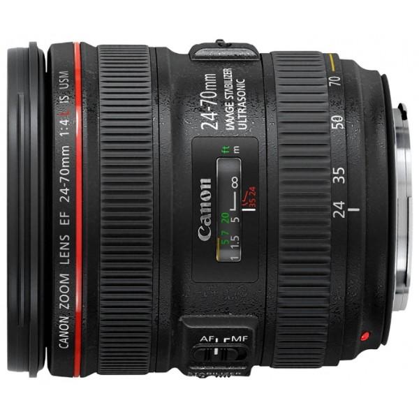 Объектив Canon EF 24-70mm f/4L IS USMУниверсальный стандартный объектив отлично подходит для полнокадровых камер EOS и большинства сюжетов Универсальный объектив 24-70 мм f/4 серии L с режимом макро, обеспечивающим увеличение до 0.7x. Ультразвуковой мотор обеспечивает быструю и почти бесшумную автофокусировку. UD-линзы и асферические линзы обеспечивают великолепное качество изображения.<br><br>Вес кг: 0.70000000