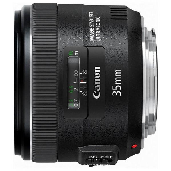 Объектив Canon EF 35mm f/2 IS USMширокоугольный объектив с постоянным ФР, крепление Canon EF и EF-S, встроенный стабилизатор изображения, автоматическая фокусировка, минимальное расстояние фокусировки 0.24 м, размеры (DхL): 77.9x62.6 мм, вес: 335 г<br><br>Вес кг: 0.40000000
