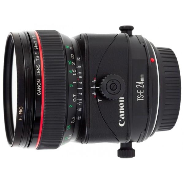 Объектив Canon TS-E 24mm f/3.5L IICanon TS-E 24mm f/3.5L II антибликовое SWC-покрытие, возможность изменять направления наклона и сдвига независимо друг от друга, наклон ± 8,5° и сдвиг ±12 мм, механизм наклона и сдвига с поворотом на +/-90° позволяет выполнять сдвиг в любом направлении, механизм наклона с поворотом на +/-90° даёт возможность осуществлять наклон в любом направлении относительно сдвига<br>