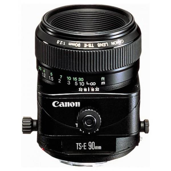 Объектив Canon TS-E 90mm f/2.8телеобъектив с постоянным ФР, крепление Canon EF и EF-S, минимальное расстояние фокусировки 0.5 м, размеры (DхL): 73.6x88 мм, вес: 565 г<br><br>Вес кг: 0.60000000