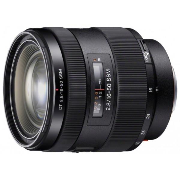 Объектив Sony SAL-1650mm f/2.8 (SAL-1650)Пыле-влагозащищённый объектив SONY Sal-1650 (DT 16-50 мм F2,8 SSM) Яркий, высококачественный телеобъектив с зумом прибл. 3х. Зум-объектив 16-50 мм F2,8 SSM. Совместим с камерами с байонетом A. Универсальные возможности, легкий корпус, первоклассная оптика. Плавная и бесшумная автофокусировка при съемке фотографий и HD-видео. Корпус с защитой от влаги и пыли<br><br>Вес кг: 0.60000000