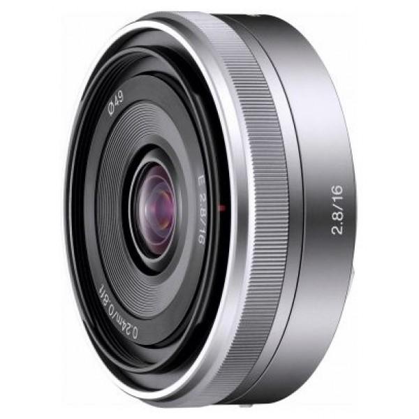 Объектив Sony SEL-16F28Легкий, незаметный объектив идеально подходит для ежедневной съемки. Широкоугольный объектив-блинчик E16 мм F2.8. Совместимость только с камерами с байонетом E<br><br>Вес кг: 0.10000000