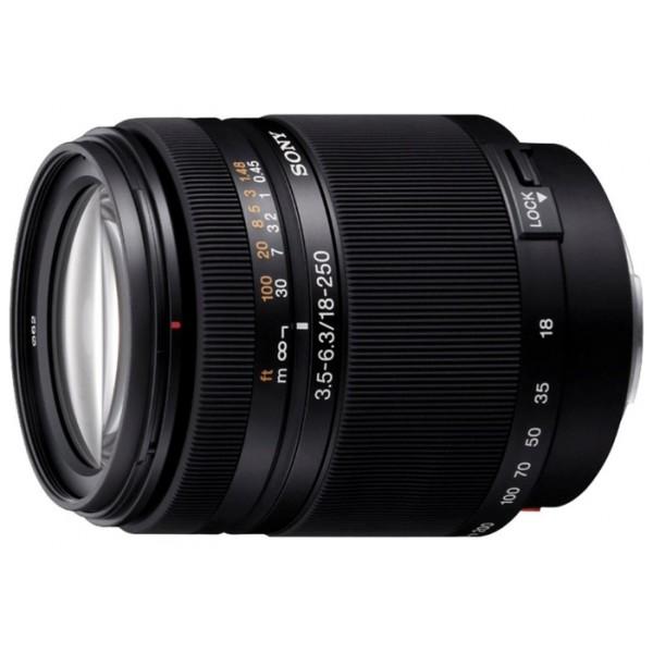 Объектив Sony DT 18-250mm f/3.5-6.3 (SAL-18250)Мощный компактный 14Х зум-объектив DT 18-250 мм, F3.5-6.3. Стандартный Zoom-объектив, крепление Minolta A, для неполнокадровых фотоаппаратов, автоматическая фокусировка, минимальное расстояние фокусировки 0.45 м, размеры (DхL): 75x86 мм, вес: 440 г<br><br>Вес кг: 0.50000000