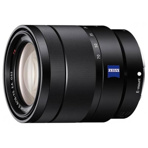 Объектив Sony Carl Zeiss Vario-Tessar T* E 16-70mm f/4 ZA OSS (SEL1670Z)Стандартный Zoom-объектив, крепление Sony E, для неполнокадровых фотоаппаратов, встроенный стабилизатор изображения, автоматическая фокусировка, минимальное расстояние фокусировки 0.35 м, размеры (DхL): 67x75 мм<br><br>Вес кг: 0.40000000