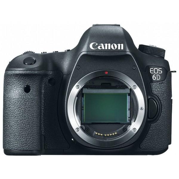 Зеркальный фотоаппарат Canon EOS 6D (WG) bodyКомпактная цифровая зеркальная камера с полнокадровым датчиком на 20,2 мегапикселя. Идеально подходит для портретной съемки и путешествий, обеспечивает точный контроль над глубиной резкости и может использоваться с большим количеством широкоугольных объективов EF.<br><br><br>Полнокадровый датчик на 20,2 мегапикселя. Сердце камеры EOS 6D — полнокадровый CMOS-датчик на 20,2 мегапикселя и мощный процессор обработки изображений DIGIC 5+. Они позволяют делать безупречно четкие фотографии и передавать мельчайшие детали. Естественность цветопередачи дополнена плавностью переходов полутонов.<br><br>Прочная, легкая конструкция<br><br>Максимальная чувствительность ISO 25 600 (с возможностью расширения до ISO 102 400)<br><br>11-точечная система автофокусировки, работающая в условиях освещенности до -3EV.<br><br>Встроенный GPS-модуль определяет точное местоположение и записывает GPS-координаты места в файл с данными. Функция GPS-логгера ведет непрерывную запись координат маршрута даже при выключенной камере.<br><br>Передача файлов и дистанционное управление по Wi-Fi<br><br>Снимайте видео в формате Full-HD с разрешением 1080p; возможность использования объективов с быстрой диафрагмой и полное ручное управление позволяет достичь кинематографических эффектов.<br><br>Вес кг: 0.80000000