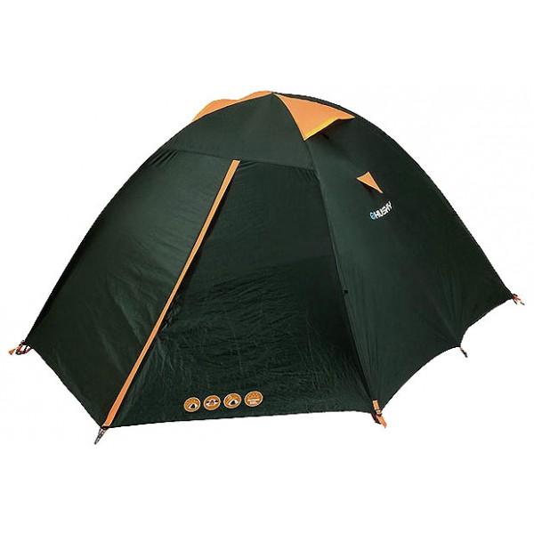 Палатка Husky Bird 3трекинговая палатка, 3-местная, внутренний каркас, дуги из стеклопластика, 2 входа / одна комната, высокая водостойкость, вес: 3.8 кг<br><br>Вес кг: 3.80000000