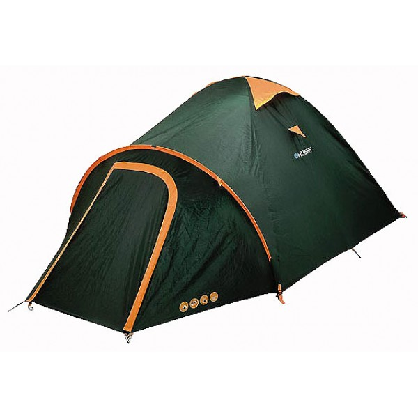 Палатка Husky Bizon 3кемпинговая палатка, 3-местная, внутренний каркас, дуги из стеклопластика, 2 входа / одна комната, высокая водостойкость, вес: 3.7 кг, все характеристик<br><br>Вес кг: 3.70000000