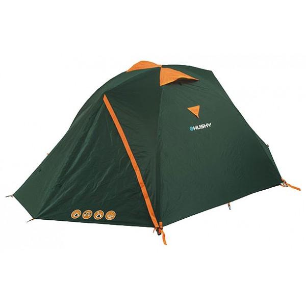 Палатка Husky Burton 2-3трекинговая палатка, 3-местная, внутренний каркас, дуги из стеклопластика, 2 входа / одна комната, высокая водостойкость, вес: 3.4 кг<br><br>Вес кг: 3.40000000