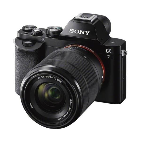Фотоаппарат Sony Alpha A7 Kit со сменной оптикойSony Alpha A7 Kit 28-70 mm.&amp;nbsp; Делайте снимки с полнокадровой детализацией 24,3 МП с глубокой дефокусировкой, реагируйте незамедлительно и четко с быстрой гибридной автофокусировкой. Прочная, простая в управлении, подходит для профессионального использования<br>