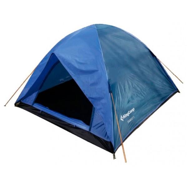 Палатка KingCamp Family 3трекинговая палатка, 2-местная, внутренний каркас, дуги из стеклопластика, один вход / одна комната, высокая водостойкость дна, вес: 2.75 кг<br><br>Вес кг: 2.75000000