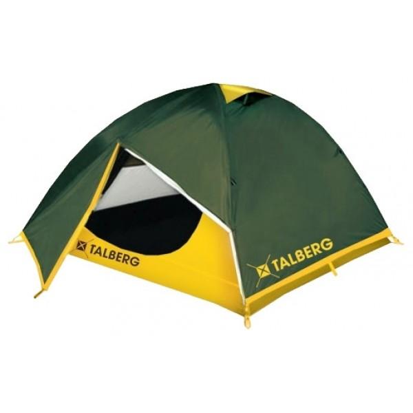 Палатка Talberg Boyard 3трекинговая палатка, 3-местная, внутренний каркас, дуги из стеклопластика, 2 входа / одна комната, высокая водостойкость, вес: 3.6 кг<br><br>Легкая двухслойная трехместная палатка с двумя увеличенными тамбурами для вещей. Туристическая линия Talberg. Палатки Talberg Туристической линии были специально разработаны для походов в весеннее, летнее и осеннее время. В палатках этой серии используются материалы и конструкции, которые позволяют комфортно провести теплую летнюю ночь или переждать серьезную непогоду с сильным ветром и осадками.<br><br>Вес кг: 3.60000000