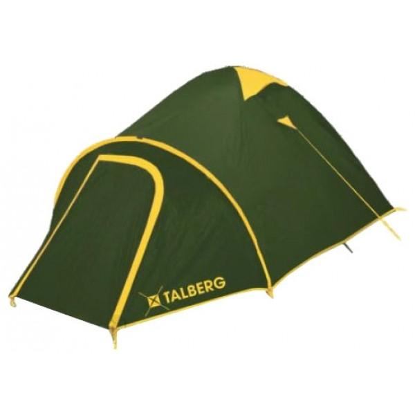 Палатка Talberg Malm 3трекинговая палатка, 3-местная, внутренний каркас, дуги из стеклопластика, 2 входа / одна комната, высокая водостойкость, вес: 4.6 кг<br><br>Вес кг: 4.60000000