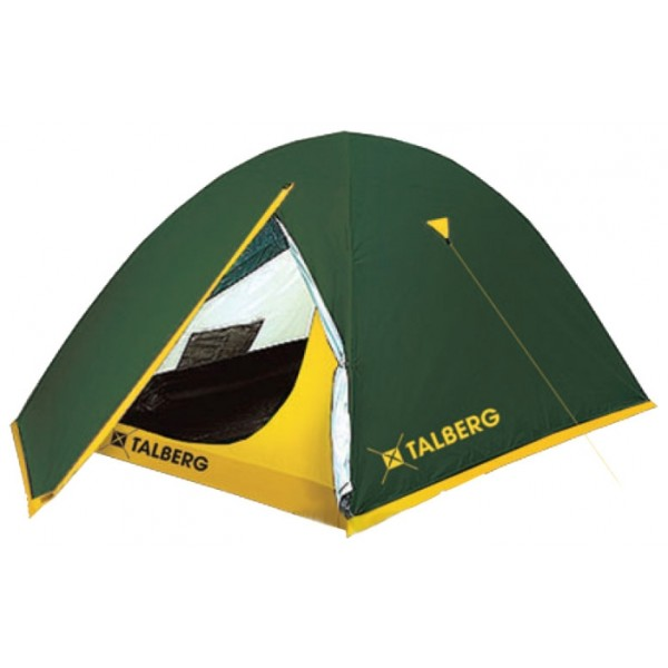 Палатка Talberg Sliper 3трекинговая палатка, 3-местная, внутренний каркас, дуги из стеклопластика, 2 входа / одна комната, высокая водостойкость, вес: 3.2 кг<br><br>Вес кг: 3.20000000