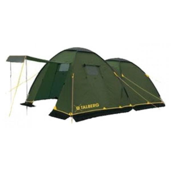 Палатка Talberg Spirit 4кемпинговая палатка, 4-местная, внешний каркас, дуги из стеклопластика, 2 входа / одна комната, высокая водостойкость, вес: 11 кг<br><br>Вес кг: 11.10000000