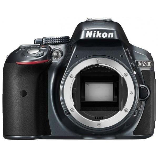 Фотоаппарат Nikon D5300 Body зеркальныйлюбительская зеркальная фотокамера, поддержка сменных объективов с байонетом Nikon F, без объектива в комплекте, матрица 24.78 мегапикселов (23.5 x 15.6 мм), съемка видео разрешением до 1920x1080, поворотный экран 3, Wi-Fi, GPS<br><br>Вес кг: 0.60000000
