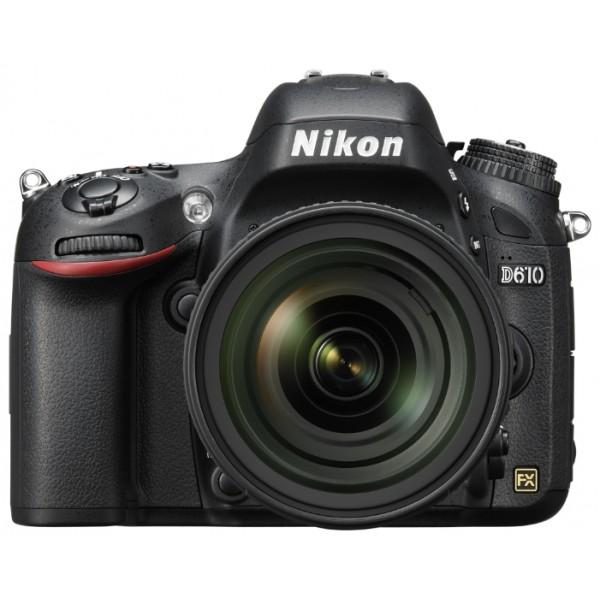 Фотоаппарат Nikon D610 Kit 24-85мм f/3.5-4.5G зеркальныйпрофессиональная зеркальная фотокамера, поддержка сменных объективов с байонетом Nikon F, объектив в комплекте, матрица 24.7 мегапикселов (35.9 x 24 мм), съемка видео разрешением до 1920x1080, экран 3.15, влагозащищенный корпус<br><br>Вес кг: 0.80000000