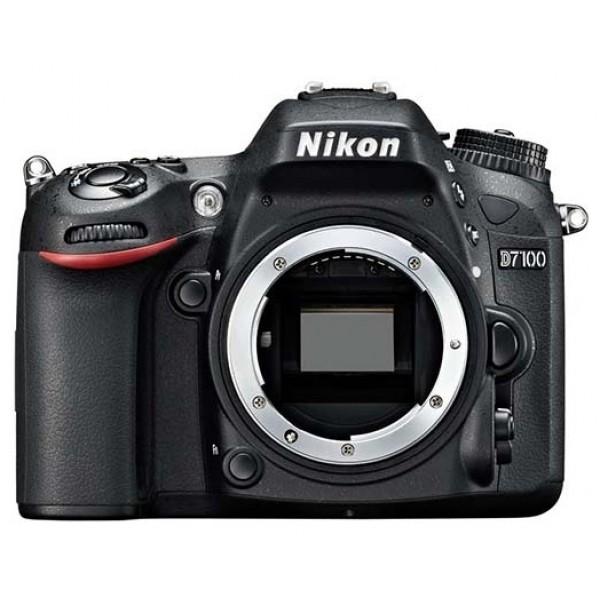 Фотоаппарат Nikon D7100 Body зеркальныйпродвинутая зеркальная фотокамера, поддержка сменных объективов с байонетом Nikon F, без объектива в комплекте, матрица 24.71 мегапикселов (23.5 x 15.6 мм), съемка видео разрешением до 1920x1080, экран 3.2, вес камеры 765 г<br><br>Вес кг: 0.80000000
