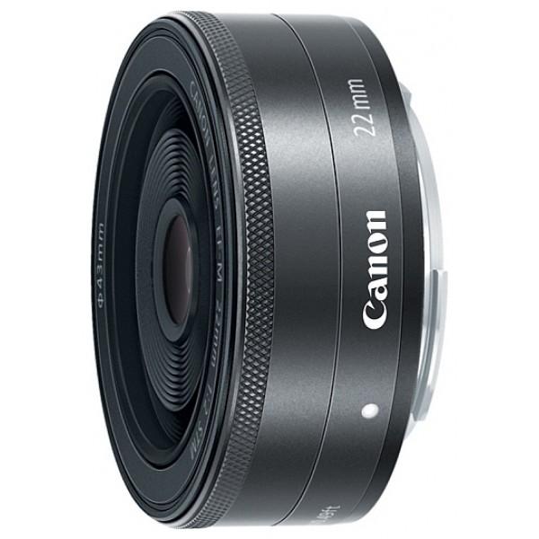 Объектив Canon EF-M 22mm f/2 STMширокоугольный объектив с постоянным ФР, крепление Canon EF-M, автоматическая фокусировка, минимальное расстояние фокусировки 0.15 м, размеры (DхL): 60.9x23.7 мм, вес: 105 г<br><br>Вес кг: 0.20000000