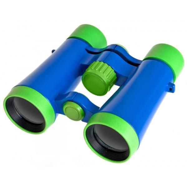 Бинокль детский Bresser Junior 4x30Компактный бинокль Bresser Junior 4x30 станет отличным подарком любому ребенку. Бинокль выполнен в ярком сине-зеленом корпусе, прост в использовании и полностью безопасен для детей.<br>
