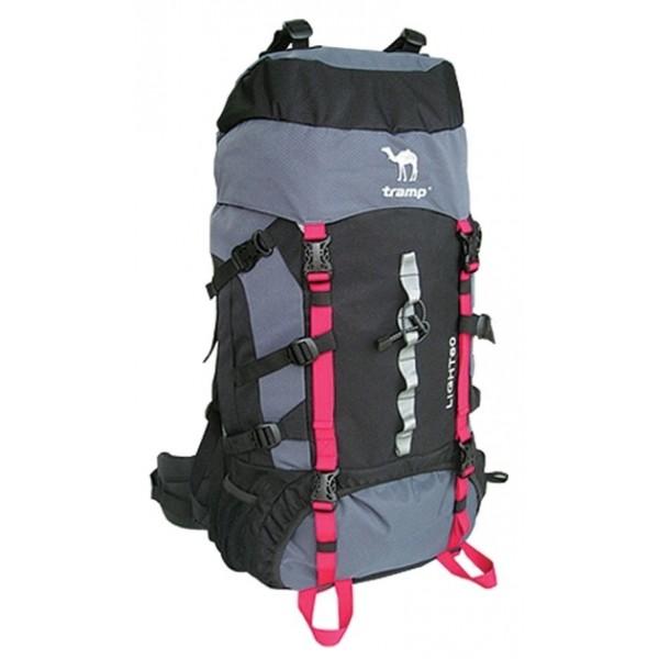 Рюкзак Tramp Light 60 black/greyунисекс экспедиционный, анатомическая система, объем 60 л, доступ к основному отделению снизу<br>