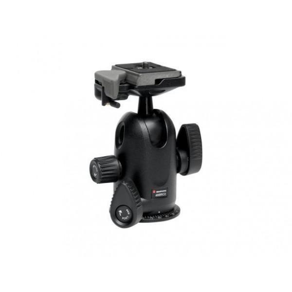 Штативная головка Manfrotto 498RC2Компактная профессиональная шаровая головка с максимальной нагрузкой до 8 кг и шкалой установки положения по азимуту. Для работы с тяжелыми камерами предусмотрен специальный фрикционный контроль и улучшенная быстросъемная площадка 200PL-14. Фиксатор площадки имеет предохранитель, исключающий случайное отсоединение фотокамеры. Дополнительная рукоятка для блокировки в режиме панорамироваения, позволяет получать качественные панорамные снимки. Головка идеально подходит для установки на тяжелые штативы Manfrotto, и позволяет устанавливать тяжелые полноформатные и среднеформатные фотокамеры весом до 8 кг.<br><br>Вес кг: 0.70000000