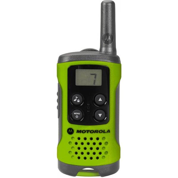 Радиостанция Motorola TLKR-T41рация PMR, 2 рации в комплекте, мощность передатчика 0.5 Вт, радиус действия 4 км, питание 3xAAA, вес 74 г, количество каналов 8<br><br>Вес кг: 0.10000000