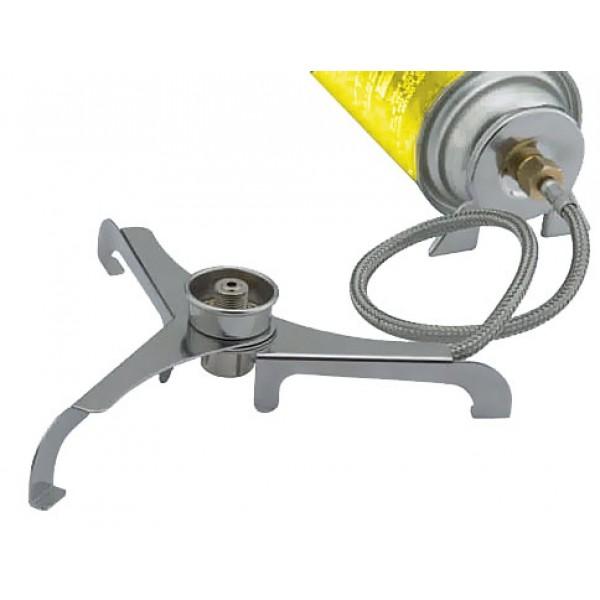 Переходник складной со шлангом Tramp TRG-011Переходник со шлангом для подключения штокового баллона к газовым горелкам с резьбовым соединением. Упаковка: пластиковый футляр.<br>