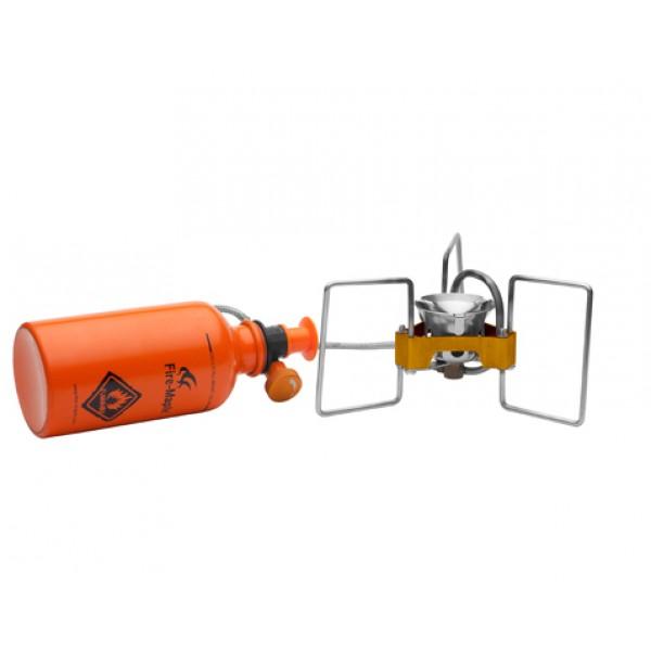 Бензиновая горелка Fire-Maple Turbo FMS-F5 бензиноваяПортативная горелка FMS-F5 TURBO - самая легкая бензиновая горелка в мире!<br><br>Эта портативная бензиновая горелка подходит для любых походов и экспедиций. Горелка компактная и занимает минимум места в багаже. Сила пламени регулируется просто и легко. Поставляется вместе с легким и компактным насосом, а также с ёмкостью для топлива модели FMS-330, легкая и герметичная, пригодная для любых походов. Сверх компактный дизайн ножек обеспечивают дополнительную устойчивость. Прочная конструкция не позволит горелке деформироваться или сломаться, так как портативная бензиновая горелка FMS-F5 TURBO выдерживает до 80 кг! Легкий и ударостойкий насос с гибкой ручкой. Чтобы использовать горелку для подогрева объемной посуды, следует максимально широко раскрыть держатели. Подходит для любого типа путешествий от легкого трекинга до экстремальных походов.<br><br>Вес кг: 0.30000000