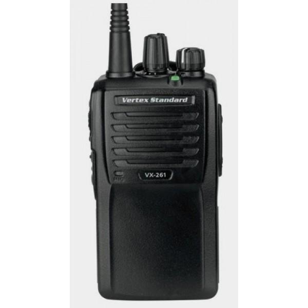 Радиостанция Vertex VX-261 VHF/UHF (FNB-V136)Vertex Standard VX-261 - новая модель носимой (портативной) радиостанции от компании Vertex. VX-261 - это улучшенная версия VX-231, дополненная функцией VOX. иапазон частот 136-174 МГц / 403-470 МГц, мощность 1-5 Вт, 16 каналов, без дисплея, антенна, 2 программируемые кнопки. Компактная и легкая модель VX-261 удобна в ношении и не мешает выполнению основной работы за счет своих небольших габаритов и улучшенной эргономики. Аккумуляторная батарея с увеличенной ёмкостью.&amp;nbsp; Как дополнительная выгода расширенный спектр поддерживаемых частот. Модель VX-261 работает в диапазонах ОВЧ и УВЧ, обеспечивая пользователю доступ к более широкому спектру частот. Дополнительные режимы сканирования. В отличие от многих других радиостанций, поддерживающих всего 1-2 режима сканирования, в модели VX-261, как и в VX-231 реализовано 4 дополнительных режима: Priority, Dual Watch, Follow-me и Talk Around, благодаря чему она характеризуется повышенным удобством и гибкостью в эксплуатации. Уникальный транспондер ARTS™ с автоматическим определением зоны радиовидимости. Только радиостанция Vertex Standard проинформирует Вас о том, что Вы находитесь в зоне радиовидимости другой радиостанции с функцией ARTS™. Если же Вы будете находиться вне этой зоны дольше 2 минут, Ваша радиостанция обнаружит отсутствие приема и оповестит Вас об этом звуковым сигналом. После этого базовая станция может послать на удаленное устройство сигнал, информирующий о необходимости вернуться в зону радиовидимости. Прекрасное решение, когда требуется полная слаженность действий!<br><br>Вес кг: 0.30000000