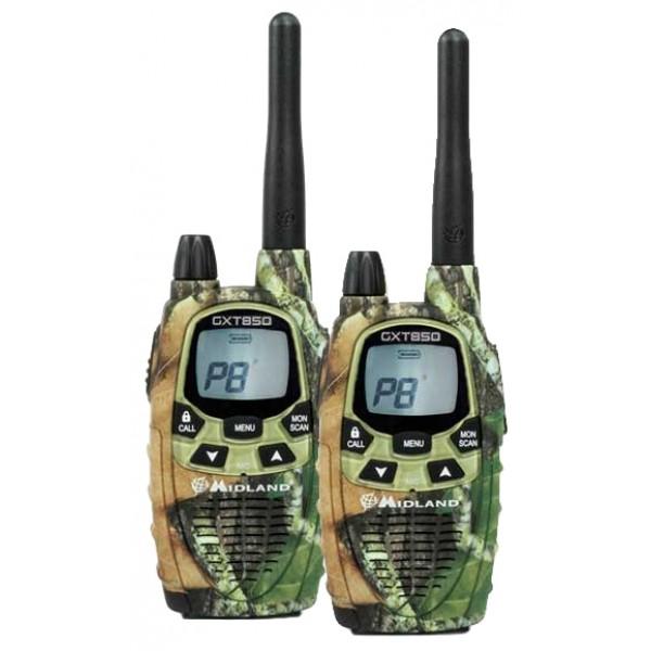 Радиостанция Midland GXT-850 LPD+PMRрация LPD/PMR, 2 рации в комплекте, мощность передатчика 0.5 Вт, радиус действия 15 км, питание Ni-MH-аккумулятор, вес 123 г, количество каналов 77, кодирование CTCSS, DCS, подключение гарнитуры<br><br>Вес кг: 0.20000000