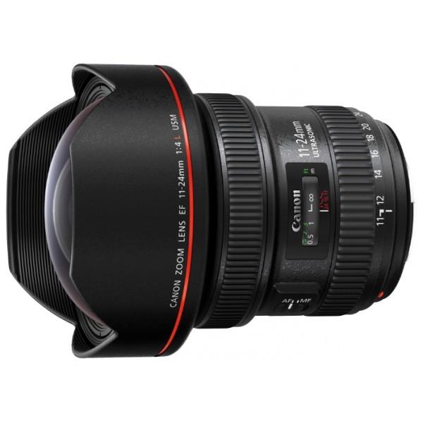 Объектив Canon EF 11-24mm f/4L USMширокоугольный Zoom-объектив, крепление Canon EF и EF-S, автоматическая фокусировка, минимальное расстояние фокусировки 0.28 м, размеры (DхL): 108x132 мм, вес: 1180 г<br><br>Вес кг: 1.30000000
