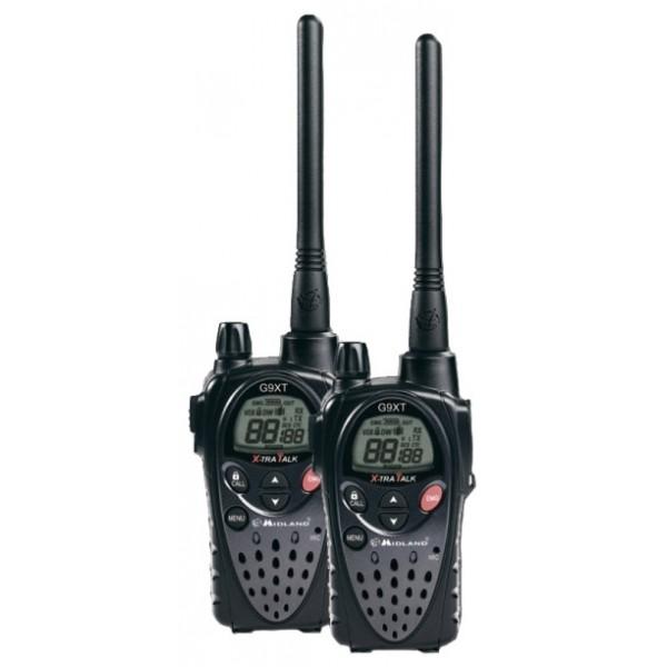 Радиостанция Midland G9XT LPD+PMRрация LPD/PMR, 2 рации в комплекте, мощность передатчика 0.5 Вт, радиус действия 15 км, питание 4xAA, вес 114 г, количество каналов 93, кодирование CTCSS, DCS, подключение гарнитуры<br><br>Вес кг: 0.20000000
