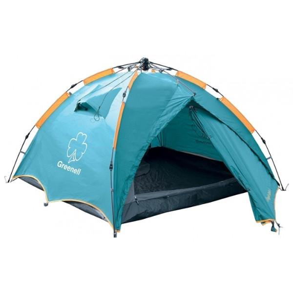 Палатка Greenell Дингл Лайт 3 трекинговаятрекинговая палатка, 3-местная, внешний каркас, дуги из стеклопластика, 2 входа / одна комната, высокая водостойкость тента, вес: 4.5 кг, быстрая сборка<br><br>Вес кг: 4.60000000