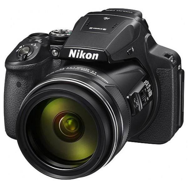 Компактный фотоаппарат Nikon Coolpix P900Фотографы, увлекающиеся съемкой дикой природы и ночного неба, высоко оценят новую 16-мегапиксельную фотокамеру COOLPIX P900 со сверхмощным 83-кратным оптическим зумом, которая позволяет запечатлеть детали, невидимые человеческому глазу. Мгновенно начинайте съемку, используя ускоренную автофокусировку и сокращенную задержку перед спуском затвора. А также снимайте с выдержкой на 5,0 ступени длиннее, чем обычно, благодаря системе оптического подавления вибраций Dual Detect Optical VR, которая эффективно устраняет смазывание.<br><br>Экран с переменным углом наклона и встроенный электронный видоискатель предоставляют широкие возможности для компоновки кадра при записи видеороликов Full HD, а также при телефотосъемке с максимальной детализацией. Встроенные модули GPS, ГЛОНАСС и QZSS обеспечивают получение точных данных о месте съемки. А благодаря встроенной функции Wi-Fi®? и поддержке технологии NFC? можно сразу же поделиться полученными изображениями.<br><br>Объектив NIKKOR оснащен 83-кратным оптическим зумом, расширяемым до 166-кратного с помощью функции Dynamic Fine Zoom?, и отличается широким охватом фокусных расстояний — от 24 мм в широкоугольном положении до 2000 мм в положении телефото (эквивалент формата 35 мм). Это позволяет фотографу запечатлеть потрясающие детали, невидимые человеческому глазу.<br><br>Система подавления вибраций (VR) улавливает каждое движение, одновременно обрабатывая данные от датчика угловой скорости на объективе и сведения о векторе движения от матрицы. Она лучше гасит вибрации и обеспечивает устойчивость при телефотосъемке с рук.<br><br>Вес кг: 1.00000000