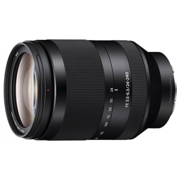 Объектив Sony FE 24-240mm f/3.5-6.3 OSS (SEL24240)стандартный Zoom-объектив, крепление Sony E, встроенный стабилизатор изображения, автоматическая фокусировка, минимальное расстояние фокусировки 0.5 м, размеры (DхL): 80.5x118.5 мм, вес: 780 г<br><br>Вес кг: 0.90000000