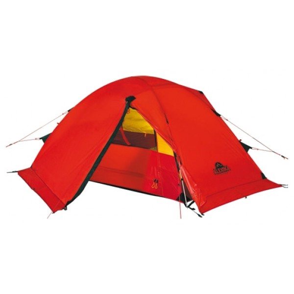 Палатка Alexika Storm 2Легкая экспедиционная палатка предназначена для организации высокогорных лагерей, восхождений в альпийском стиле и эксплуатации в сложных погодных условиях. Обладает высокой ветроустойчивостью, длительное время способна выдерживать сильный дождь, ветер и снегопад.<br><br>Палатка компактна и вполне комфортабельна. У каждого из проживающих отдельный вход в палатку и тамбур для вещей. Двухслойная конструкция обеспечивает хорошую теплоизоляцию и отсутствие конденсата. Палатка отлично зарекомендовала себя при восхождении на пик Ленина.<br><br><br>Пропитка, задерживающая распространение огня.<br><br>Швы герметизированы термоусадочной лентой.<br><br>Тент устойчив к ультрафиолету.<br><br>Узлы палатки, испытывающие высокие нагрузки, усилены более прочной тканью.<br><br>Край тента обшит прочной стропой.<br><br>Молнии на внешнем тенте фиксируются алюминиевым крючком.<br><br>Эффективная система вентиляции состоит из двух вентиляционных окон с ветровым клапаном, расположенных в верхней точке купола.<br><br>Прочный нейлоновый тент с усиленным плетением RipStop и силиконовым покрытием.<br><br>Полог (юбка) по периметру палатки защищает от попадания дождя и снега и при загрузке увеличивает устойчивость конструкции.<br><br>При необходимости быстро собирается с помощью петель с фиксаторами.<br><br>Молнии YKK на внешнем тенте.<br><br>Вес кг: 3.80000000