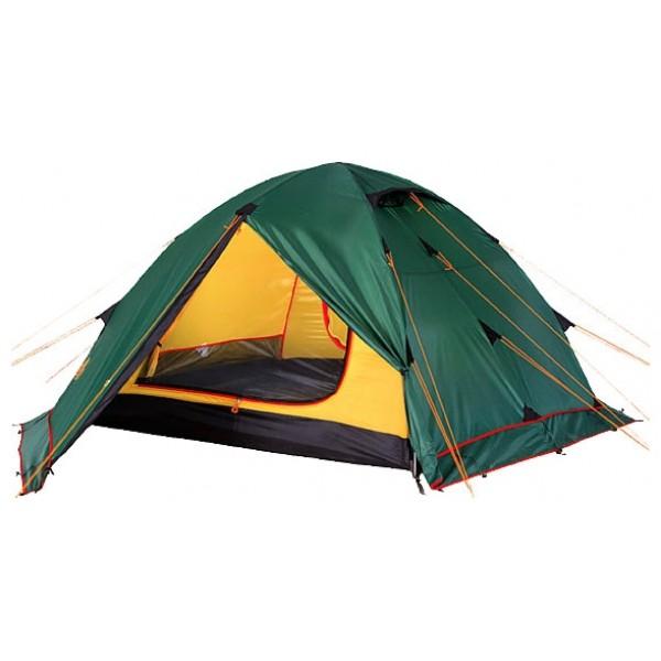 Палатка Alexika Rondo 3 PlusУниверсальная туристическая палатка Rondo 3 plus это модификация хорошо зарекомендовавшей сябя модели Rondo 3. Отличается наличием юбки по периметру тента. Это позволяет использовать палатку в условиях сильного ветра и длительной непогоды. Для активного отдыха небольшой семьей палатка туристическая Rondo 3 Plus – это как раз тот вариант, который сможет удовлетворить все потребности. Он представляет собой усовершенствованный вариант модели Rondo 3. Основным отличием является наличие по периметру ветрозащитной юбки.<br><br>На фоне других конкурентов эта палатка выделяется сразу несколькими плюсами. Благодаря своей полусферической форме она довольно ветроустойчива. За счет умело сконструированной вентиляции вы можете и в жаркую, и в прохладную погоду поддерживать внутри палатки оптимальную температуру. Циркуляцию воздуха можно создавать с помощью закрытых антимоскитными сетками входов в палатку, а также регулируемых вентиляционных проемов в верхней части купола. Несколько приятных дополнений в виде крючка для фонарика, небольшой полочки и карманчиков для мелких вещей довершают образ идеального походного жилья. Два просторных тамбура позволяют расположить в них все туристическое снаряжение.<br><br>Дно палатки Rondo 3 Plus и юбка по периметру выполнены из плотного полиэстера, что надежно защищает внутреннее пространство от дождевой воды и сырости. Все швы обработаны термоусадочной лентой, а сама ткань тента пропитана противогорючими составами.<br><br>Вес кг: 4.70000000