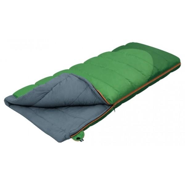 Спальный мешок Alexika SiberiaСпальник одеяло ALEXIKA SIBERIA - отличный вариант для любителей комфортного отдыха на природе. Данная модель создана с использованием утеплителя нового поколения APF-Isoterm 3D, который заслужил множество положительных отзывов от туристов. Выбрав спальник-одеяло SIBERIA, вы можете не бояться холодов. Утеплитель позволяет сохранять температуру тела максимально долго, а ткань внешней обшивки защищает спальник-одеяло от промокания.<br><br>Спальный мешок может использоваться с ранней весны и до осени, когда ночные температуры резко отличаются от дневных. У модели по периметру имеется удобная молния, позволяющая трансформировать спальник в большое и теплое одеяло. У молнии предусмотрена лента от закусывания при расстегивании и застегивании. При желании вы можете использовать мешок в качестве мягкого матраса, а также состегивать вместе несколько спальников. Благодаря своему размеру (195x80 см) эта модель подходит большинству туристов. Небольшие габариты позволяют уложить спальник практически в любой рюкзак, а его вес (1,9 кг) не причинит неудобств при переходах.<br><br>Спальник SIBERIA аккуратно прошит через равные промежутки, что придает ему привлекательный внешний вид, а также предотвращает скатывание утеплителя.<br><br>Вес кг: 1.90000000