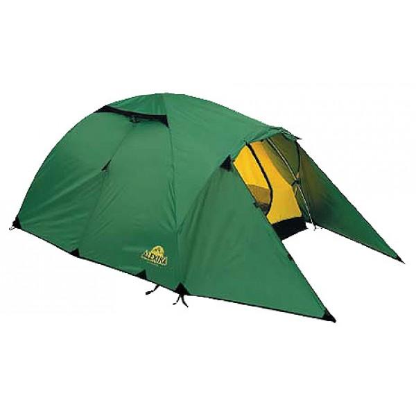 Палатка Alexika Nakra 3Удобная трехместная палатка NAKRA 3 – последнее «слово» в индустрии создания принадлежностей для активного туризма. Модель отлично подходит для использования в условиях непогоды, при проливном дожде или сильных порывах ветра. Ее главное преимущество – надежная и прочная ветроустойчивая конструкция, которая удерживается благодаря каркасу из алюминиевых дуг.<br><br>Палатка NAKRA 3 станет отличным выбором для путешественников, планирующих выезжать на природу с одной или несколькими ночевками уже с конца марта. Ее прочная непродуваемая ткань делает данную модель незаменимой также при поездках поздней осенью.<br><br>Туристическая палатка NAKRA 3 отличается тщательно продуманной конструкцией. Ее вход с двух сторон защищают выдающиеся вперед треугольные крылья из тента, предотвращающие попадание внутрь холодного воздуха. Вы можете быть уверены, что даже при сильном ветре внутри палатки вам будет спокойно и уютно. Верхняя часть и дно модели NAKRA 3 выполнены из прочной ткани Polyester, которая практически не намокает и не продувается. Встроенная внутренняя палатка застегивается на специальные замки, благодаря чему путешественники могут спокойно спать, не страшась сквозняка, не боясь заболеть, ощущая только комфорт.<br><br>Вес кг: 4.20000000