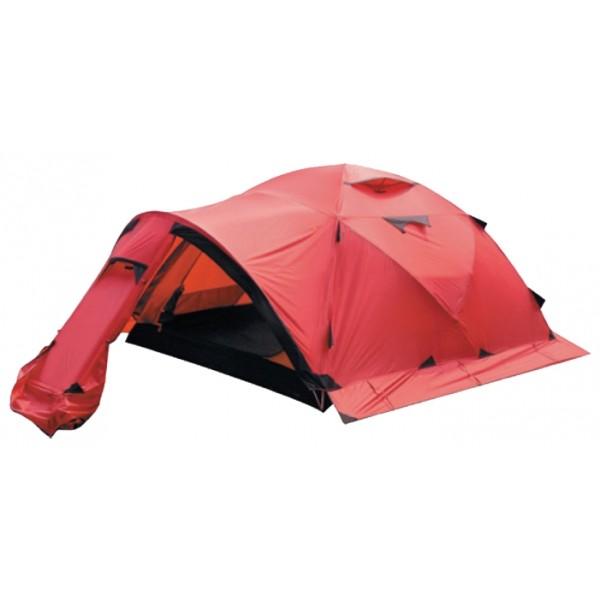 Палатка Alexika Mirage 4 экстремальнаяЛегендарная экспедиционная палатка, прошедшая испытание ураганным ветром, сильнейшими снегопадами и сверхнизкими температурами. Высокопрочные материалы и продуманная до мелочей конструкция позволяют заявить, что Mirage 4 - одна из лучших палаток для базовых лагерей и восхождений в гималайском стиле.<br><br>Экспедиционная палатка с повышенной ветроустойчивостью каркаса и внешнего тента. Предназначена для организации высокогорных базовых лагерей и длительной эксплуатации в тяжелых погодных условиях. Имеется большой тамбур для снаряжения. В палатке при необходимости могут разместиться 5 человек. 4-х местная эволюция отлично зарекомендовавшей себя палатки MIRAGE 3.<br><br><br>Пропитка, задерживающая распространение огня.<br><br>Швы герметизированы термоусадочной лентой.<br><br>Узлы палатки, испытывающие высокие нагрузки, усилены более прочной тканью.<br><br>Край тента обшит прочной стропой.<br><br>Молнии на внешнем тенте фиксируются алюминиевым крючком.<br><br>Эффективная система вентиляции состоит из двух вентиляционных окон с ветровым клапаном, расположенных в верхней точке купола, плюс дополнительное вентиляционное окно в тамбуре.<br><br>Прочный нейлоновый тент с усиленным плетением RipStop и силиконовым покрытием.<br><br>Жёсткий пятидуговый каркас.<br><br>Полог (юбка) по периметру палатки защищает от попадания дождя и снега и при загрузке увеличивает устойчивость конструкции.<br><br>При необходимости быстро собирается с помощью петель с фиксаторами.<br><br>Молнии YKK на внешнем тенте.<br><br>Внутренняя палатка оснащена противомоскитной сеткой, четырьмя карманами, кольцом для фонаря и полочкой для мелких предметов.<br><br>Возможность закрывать вентиляционное окно из палатки<br><br>Вес кг: 6.60000000