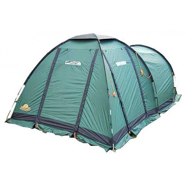 Палатка Alexika Nevada 4Кофортабельная четырехместная палатка из серии компакт-кемпинг. Отличается от других моделей большим высоким тамбуром купольной конструкции. Внутренняя палатка-спальня подвешивается изнутри. Это позволяет легко установить палатку даже в сильный дождь. В комплекте идет съемный пол для тамбурного отсека. Тамбур палатки можно использовать для отдыха, поставив в нем складные стульчики и небольшой столик или под склад для вещей. Дно палатки, выполненное из плотного и крепкого материала Polyester, предотвратит намокание спальных мешков даже во время проливного дождя.<br><br>Попасть во внутреннее пространство можно через два отдельных входа, поэтому в такой палатке семья или группа из четырех человек будет чувствовать себя комфортно. Наружная часть модели NEVADA 4 выполнена из плотного тентованного полотна, которому не страшен никакой ливень. Ребра палатки укреплены при помощи крепких и прочных дуг, в силу чего даже во время ветров она не изменяет форму, не сворачивается, а внутреннее пространство надежно защищено от сквозняков.<br><br>Вес кг: 12.70000000