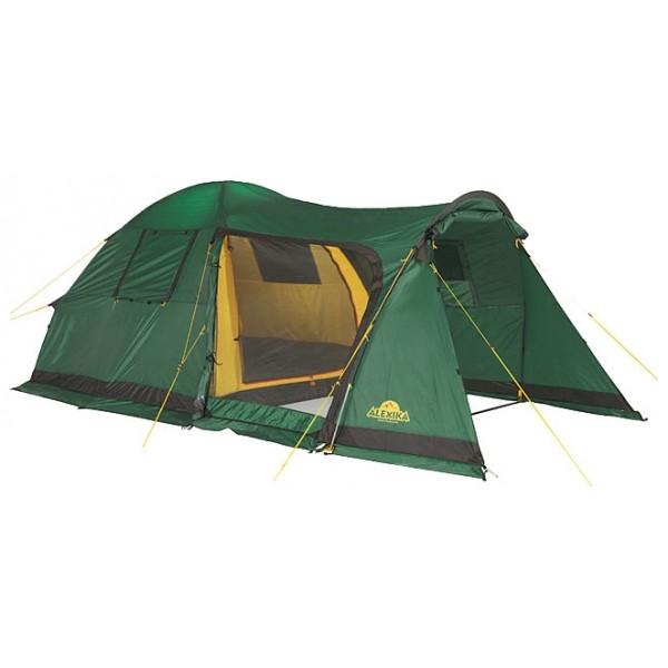 Палатка Alexika Grand Tower 4Комфортабельная четырехместная палатка из серии компакт-кемпинг. Разработана на основе популярной палатки Alexika Tower 4. Палатка имеет большой внутренний объем и высокий потолок. Отличительная особенность модели – огромный тамбур, способный вместить и обеденный столик, и складные стулья. Тамбур оснащен съемным полом, поставляющимся в комплекте с палаткой. При этом вес палатки всего 12 кг, что для кемпинговой палатки является очень хорошим показателем.<br><br>Широкий боковой вход закрывается антимоскитной сеткой, которая позволяет туристам забыть о комарах. Вы можете спокойно отдыхать в теплое время года даже вблизи водоема. Вход во внутреннюю палатку отделяется пологом, закрывающимся при помощи удобных креплений. Прозрачные вставки в боковых стенках палатки дают возможность наполнить ее внутреннее пространство солнечным светом – вы можете быть уверены, что ваше временное жилище будет светлым и уютным. Крепкие дуги и отличная ветроустойчивость Alexika Grand Tower 4 позволяют вам не волноваться за ее надежность.<br><br>Вес кг: 12.10000000