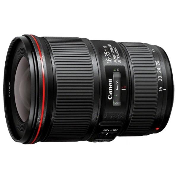 Объектив Canon EF 16-35mm f/4L IS USMширокоугольный Zoom-объектив, крепление Canon EF и EF-S, встроенный стабилизатор изображения, автоматическая фокусировка, минимальное расстояние фокусировки 0.28 м, размеры (DхL): 82.6x112.8 мм, вес: 615 г<br><br>Вес кг: 0.70000000