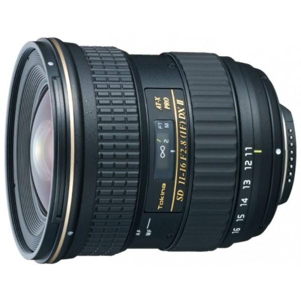 Объектив Tokina AT-X 116 Pro DX II Nikon Fширокоугольный Zoom-объектив, крепление Nikon F, встроенный мотор, 11 - 16 мм, F2.80, для неполнокадровых фотоаппаратов, автоматическая фокусировка, минимальное расстояние фокусировки 0.3 м, размеры (DхL): 84x89.2 мм<br><br>Вес кг: 0.60000000