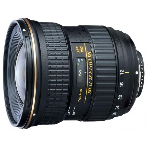 Объектив Tokina AT-X 128 f/4 PRO DX Nikon Fширокоугольный Zoom-объектив, крепление Nikon F, встроенный мотор, 12 - 28 мм, F4, для неполнокадровых фотоаппаратов, автоматическая фокусировка, размеры (DхL): 84x90.2 мм, вес: 530 г<br><br>Вес кг: 0.60000000
