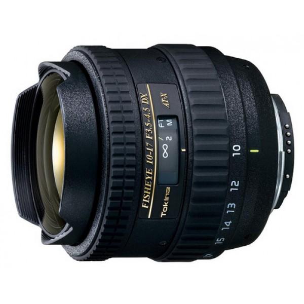 Объектив Tokina AT-X 107 AF DX Fish-Eye Nikon Fобъектив типа рыбий глаз, крепление Nikon F, без встроенного мотора, 10 - 17 мм, F3.50 - F4.50, для неполнокадровых фотоаппаратов, автоматическая фокусировка, минимальное расстояние фокусировки 0.14 м, размеры (DхL): 70x71.1 мм<br><br>Вес кг: 0.40000000