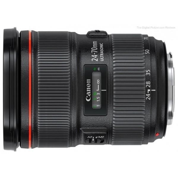 Объектив Canon EF 24-70mm f/2.8L II USMстандартный Zoom-объектив, крепление Canon EF и EF-S, автоматическая фокусировка, минимальное расстояние фокусировки 0.38 м, размеры (DхL): 88.5x113 мм, вес: 805 г<br><br>Вес кг: 0.80000000